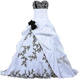 Brautkleider schwarz weiße Farbige Brautkleider