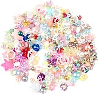 Pingentes de geleca HEALLILY com enfeites lisos de pérola com contas de strass para artesanato, joia de ornamento, acessór...