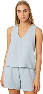 Rpm Women's Taylah Singlet V-Neck Blue