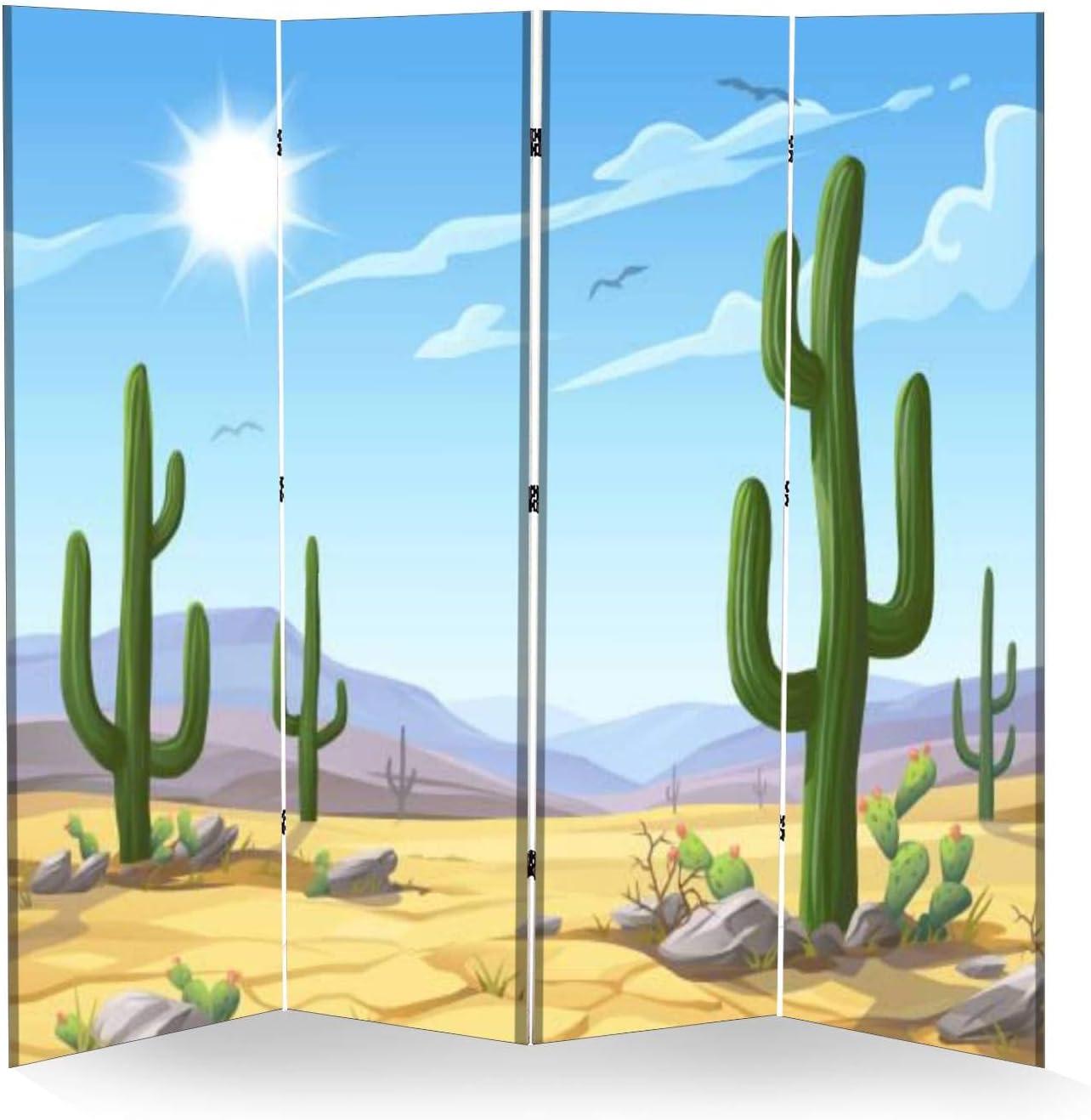 4 Panel Wall San Francisco latest Mall Divider Desert Stock Landscape Folding Illustration