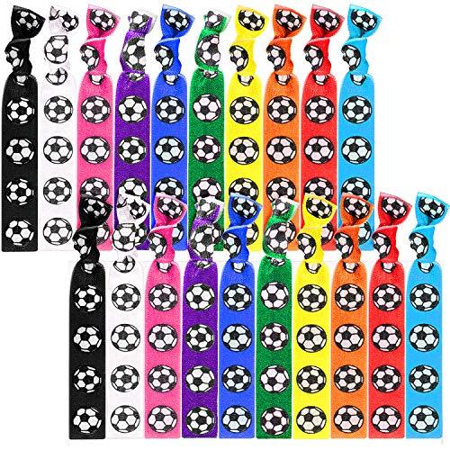 20 Stück Fußball Haargummis Zubehör Fußball Haarbänder Sport Mädchen Nicht Falte Band Fußball Pferdeschwanz Inhaber
