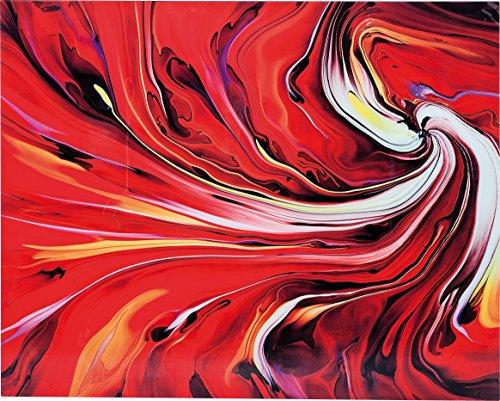 Kare Design Bild Glas Chaos Fire, Glasbild rot, Glasbild feuer, Glasbilder, (H/B/T) 150x120x0,04cm