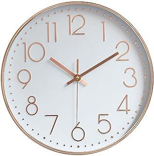 Jomparis 掛け時計 おしゃれ 壁掛け時計 クオ—ツ 静音 ローズゴールド 約30cm ホーム ベッドルーム キッチン プレゼントオススメ