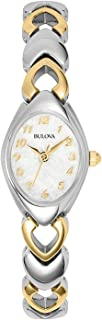 Bulova Women's Mother of Pearl Dial Two-Tone Bracelet Style Watch