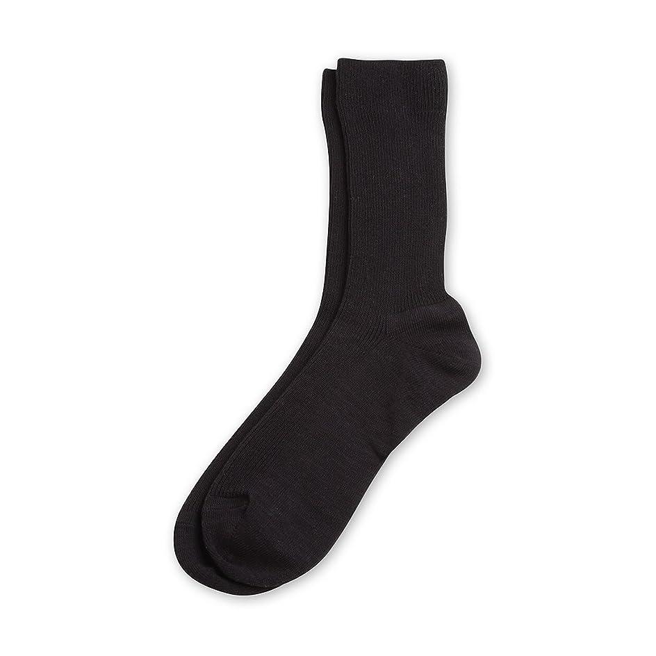 比類のない逃れる領収書Deol(デオル) レギュラーソックス 男性用 メンズ [足のニオイ対策] 長期間持続 日本製 無地 靴下 黒 25cm-27cm