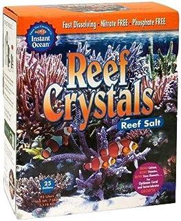 Instant Ocean Reef Crystals Reef Salt for 50 Gallons, Enriched Formulation for Aquariums