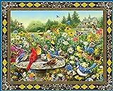 Muralpuzzle Rompecabezas Creativo Clásico para Adultos De 6000 Piezas, Ejercicio Mental De Pájaros Y Mariposas, Rompecabezas De Madera Creativo