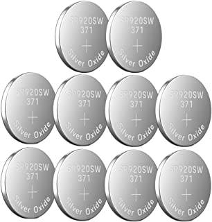 LiCB SR920SW 371 LR920 AG6 370 - Pilas de botón para Reloj (1,55 V, 10 Unidades)