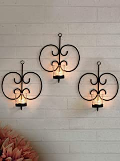 TIED RIBBONS Wall Hanging Tealight Candle Holders for Home Decoration - Wall Sconces with Tealight Candles Christmas Decor...