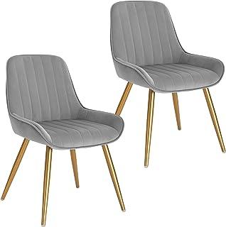 1er Esszimmerstühle Küchenstuhl mit Holzbeinen Büro Stühle Wohnzimmerst Schwarz