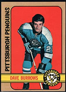 Hockey NHL 1972-73 Topps #82 Dave Burrows RC Penguins