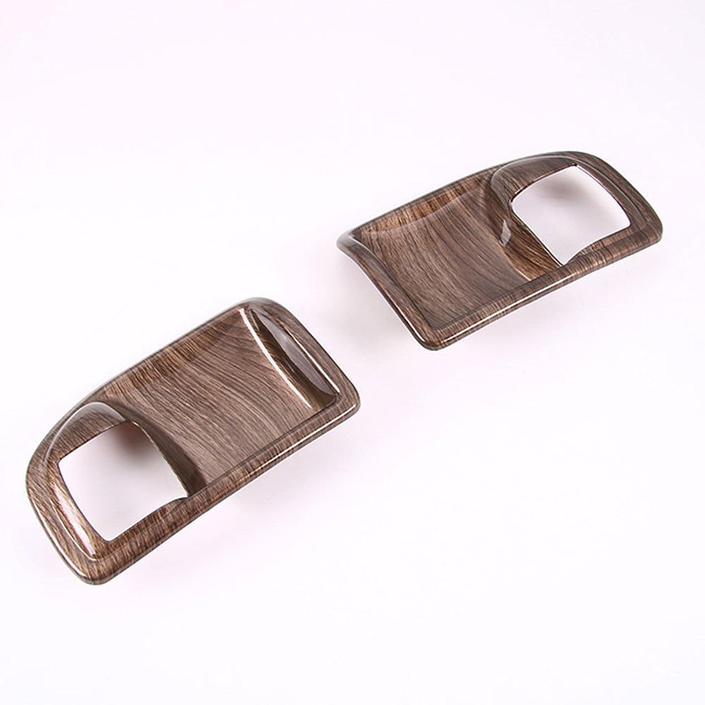 保存オデュッセウス家具Jicorzo - Interior Door Handle Bowl Cover Trim Chrome ABS Frame Car Styling For Jeep Wrangler Rubicon JK 2007-2017 2 Doors Car Accessories [Wooden Grain]