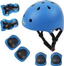 LBLA Helmet and Pads for Kids 3-8 Years Toddler Helmet,Kids Bike Skateboard Helmet,Helmet Knee Elbow Wrist for Scooter,7Pcs Adjustable Protective Gear Set for Kids