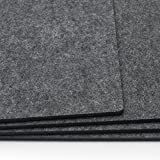 FILU Platzsets aus Filz 4er-Pack Dunkelgrau eckig (Farbe und Form wählbar) 30 x 41 cm – Tischset für drinnen und draußen, abwaschbar und pflegeleicht, Deko für Esstisch im Wohnzimmer, Gartentisch/Balkontisch - 4