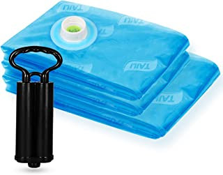TAILI Vacuum Storage Space Saver Bags 3 Pack (1x Jumbo, 2X Large, with 1 Unique Travel Hand Pump) Home Organizers for Comforters, Pillows, Bedding, Blankets, Clothes