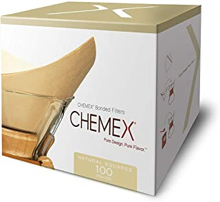 Chemex Natural Coffee Filters, Square, 100ct - Exclusive Packaging(100 filters per pack)