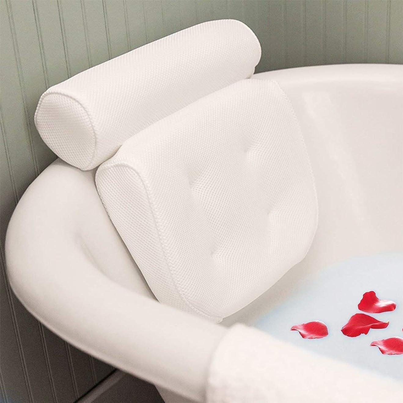 憎しみ比率消去お風呂 まくらESSORT枕 バスピロー 吸盤 滑り止め付 バスタブ 浴槽用 浴用品 肩こり リラックス 安眠 抗菌