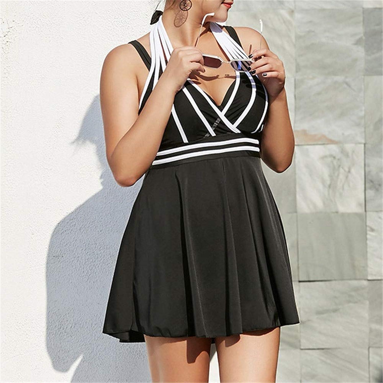Female Swimsuit onePiece Swimsuit Girls One Piece Swimwear Shaping Floral Plus Size Bathing Suit (color   Black, Size   XXXXXXL)