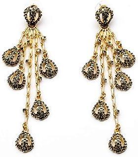 Erin Earring Bigiotteria Nuovo Lungo Ciondolo in Oro Fresco con Orecchini Femminili in Pietra di Luna di Diametro