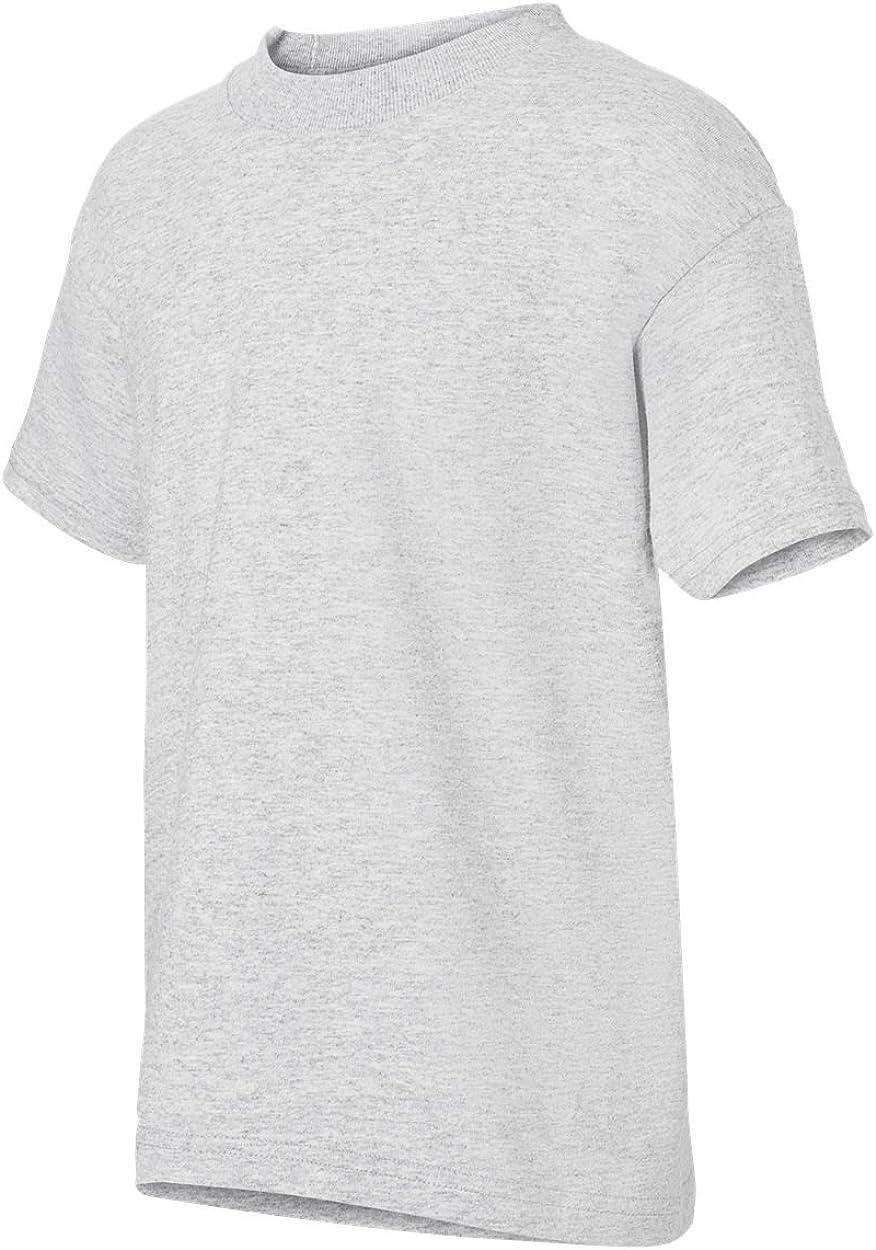 Hanes Youth 5.2 oz. ComfortSoft Cotton T-Shirt, Medium, ASH