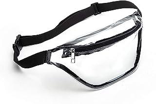 کیف زنانه Clear Fanny Pack ، کیف ضد آب کمربند کوچک کمربند کمر زیبا با بند قابل تنظیم ، استادیوم کیف پاک ، مورد تایید ، مناسب برای کنسرت ، پیاده روی و رویدادهای ورزشی (سیاه)