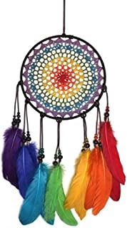 Malicosmile Dream Catchers for Kids, Colorful Rainbow Dream Catcher Decorations for Kids Bedroom Dreamcatcher
