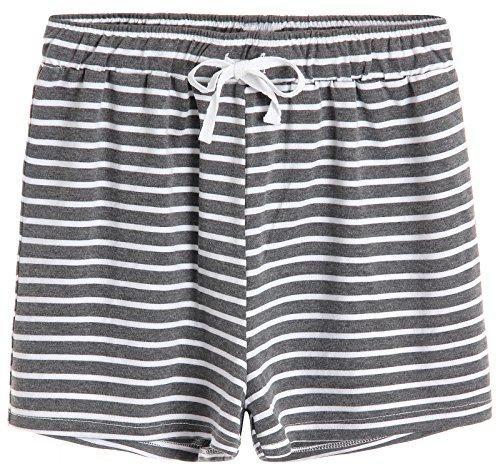 Latuza Women's Cotton Striped Pajama Shorts