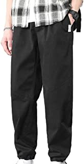 Comaba Mens Cotton Leisure Activewear Solid Pocket Front Plus-Size Capri Pants