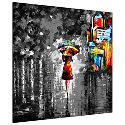 Toile sur châssis, impression Black and White Rain Princess...