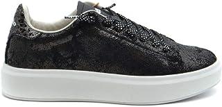 Luxury Fashion | Lotto Women MCBI37737 Black Fabric Sneakers | Season Outlet