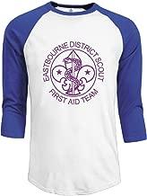 SAXON Men's Geek East Bourne District Scout Raglan Baseball T-Shirt Tops