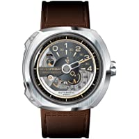 Sevenfriday V-Series Brown Leather Men's Watch