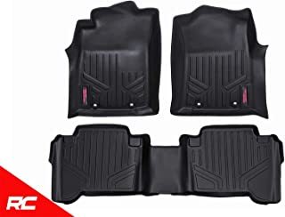 Rough Country Floor Liners (fits) 2012-2015 Tacoma Double Cab 1st 2nd Row Weather Rugged Mats M-71213