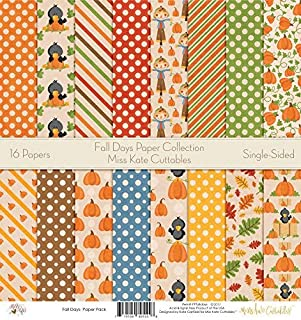 Pattern Paper Pack - Fall Days - Scrapbook Premium Specialty Paper Single-Sided 12