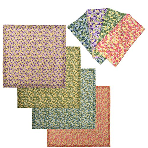 """tag Cloth Napkins Cotton, Set of 8 Petite Floral Print Colored Dinner Table, 20"""" x 20"""""""