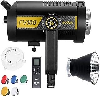 Godox FV150 150W Flash de sincronización de Alta Velocidad y luz LED Continua, 12000LUX, CRI 95+ TCLI 96+, Sistema inalámb...