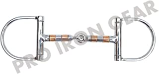PRO IRON GEAR D Ring Horse BIT Snaffle Copper Rollers BIT Stainless Steel
