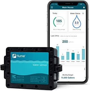 Flume Water Monitor: Smart Home Water Monitoring to Detect Leaks & Track Water Usage..