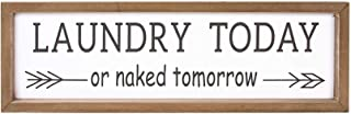 VILIGHT Laundry Room Decor Rustic Farmhouse Sign Wall Decoration Funny Housewarming Gifts..