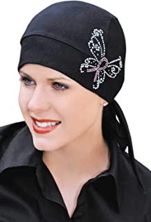 Headcovers Unlimited Cotton Chemo Headwrap for Women: Breast Cancer Hat