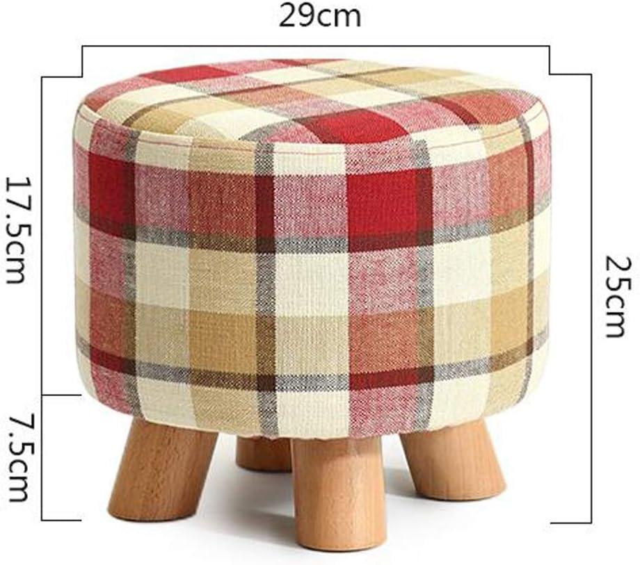ZHNA Tabouret en Bois Mode Petit Changement de siège Chaussures Petite Chaise Salon tableside Meubles for Enfants (Color : Red) Red