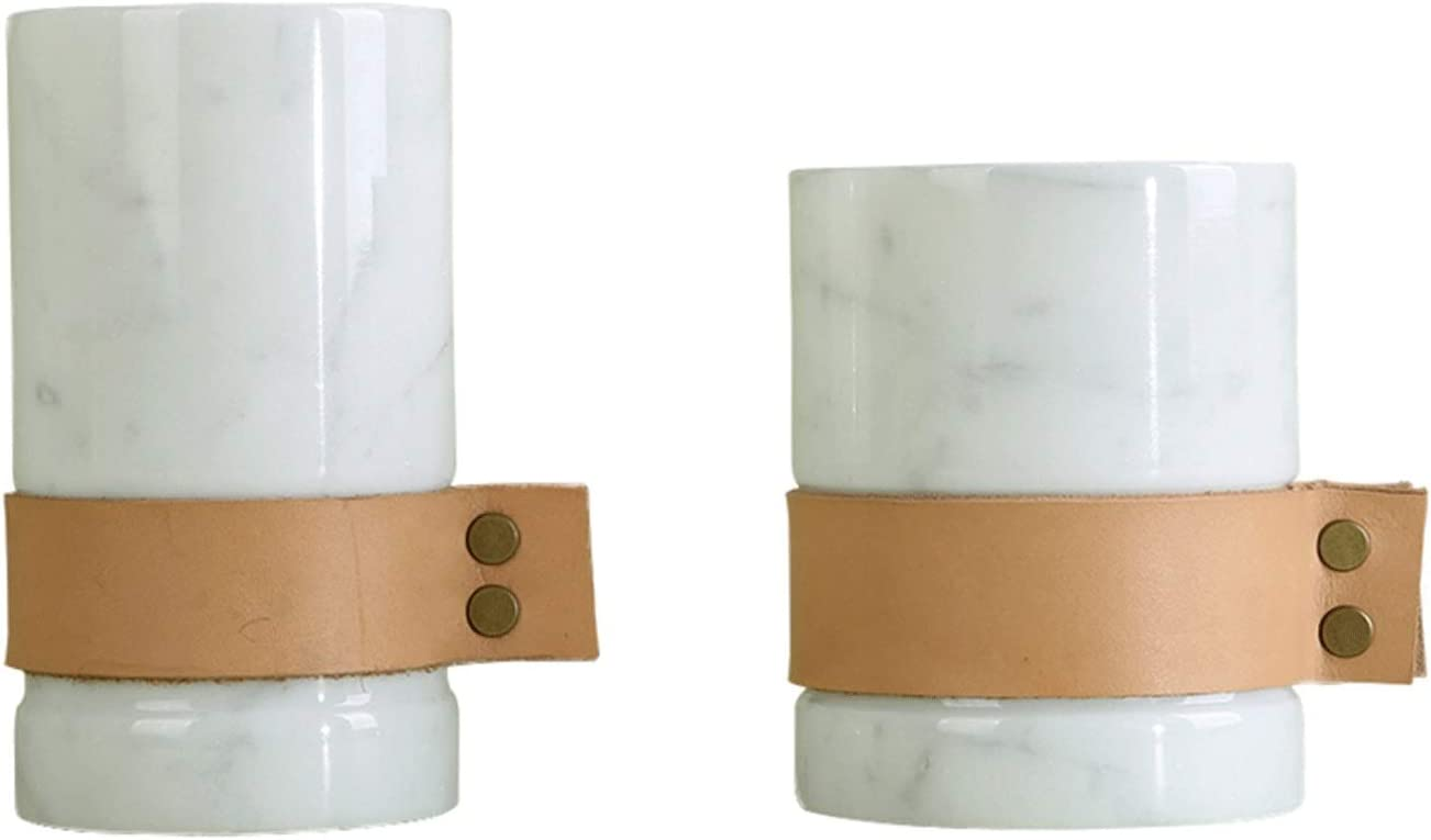 Taper Candle Limited price sale Holder 2 Pack Barr Pen Holders Simple Max 63% OFF Marble