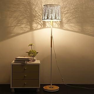 Lampadaires Lampe de Plancher de Salon Moderne et élégant, Abat-Jour Creux en métal, lampadaire en Bois pour Chambre à Cou...