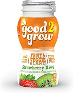 good2grow Strawberry Kiwi Juice Refill, 24-pack of 6-Ounce BPA-Free Juice Bottles, Non-GMO with Full Serving of Fruits and...
