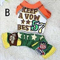 犬の服 つなぎ ドッグウエア ペット用品 ペッド服 ペットグッズ 春 夏 犬服 かこいい オシャレ B (XL)