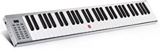 $124 Get Piano Keyboard, 61 Key Electronic Keyboard with Touch-response Keys, Lightweight, USB or Adapter Power Supply, Aluminum Shell, Silver