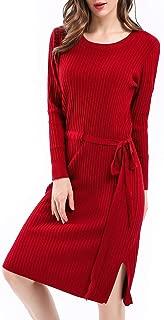 long sleeve sweater skater dress