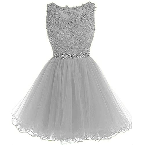 f5c8a393c6f Dydsz Women s Short Prom Dress Homecoming Dresses Beaded Appliques Party  Cocktail Gown D126