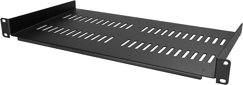 StarTech.com 1U Vented Server Rack Cabinet Shelf - 10in Deep Fixed Cantilever Tray - Rackmount Shelf for 19