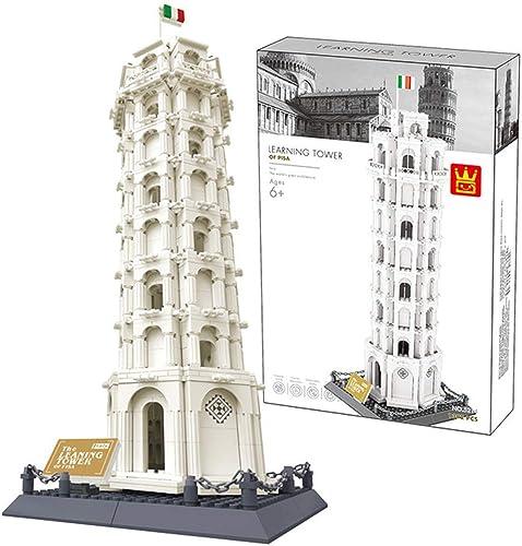 autentico en linea Yyz Mundialmente Famosa Serie Serie Serie arquitectónica Pisa Torre Inclinada Modelo Montaje Bloques de construcción Juguetes educativos Juguetes de cumpleaños Regalos  primera vez respuesta